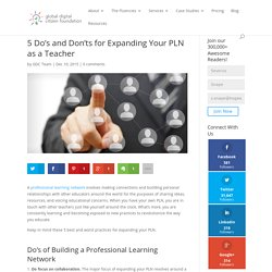 5 Do's and Don'ts for Expanding Your PLN as a Teacher