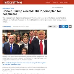 Donald Trump elected: His 7 point plan for healthcare