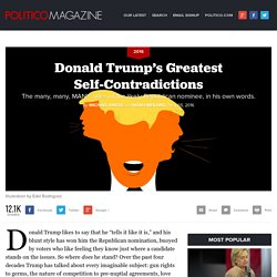 Donald Trump's Greatest Self-Contradictions