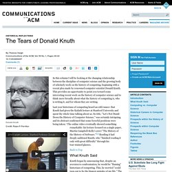 The Tears of Donald Knuth