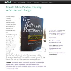 Donald Schon (Schön): learning, reflection and change