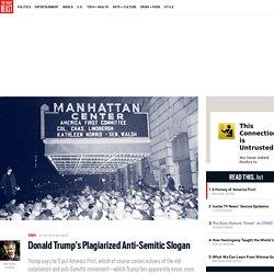 Donald Trump's Plagiarized Anti-Semitic Slogan