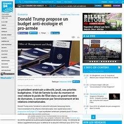 Donald Trump propose un budget anti-écologie et pro-armée