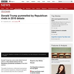 Donald Trump pummelled by Republican rivals in 2016 debate - BBC News