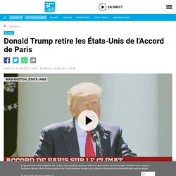 Donald Trump retire les États-Unis de l'Accord de Paris - France 24 -1er/06/2017