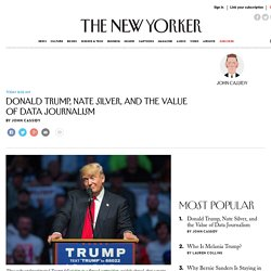 Donald Trump, Nate Silver, and the Value of Data Journalism