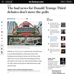The bad news for Donald Trump: Third debates don't move the polls