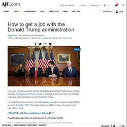 Donald Trump transition team: How to get a White House job