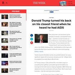 Donald Trump turned his back on Cohn when he heard he had AIDS 2 clicks