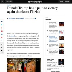 Donald Trump has a path to victory again thanks to Florida