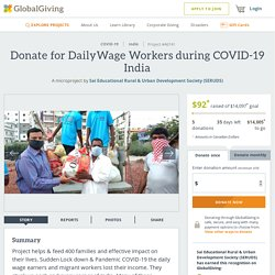 Donate for DailyWage Workers during COVID-19 India