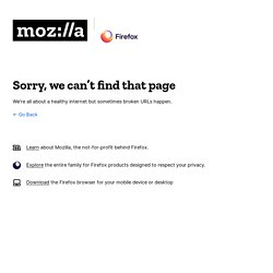 Design Gallery : Mozilla Community Store
