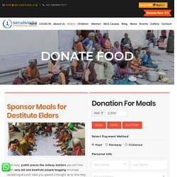 Donate Food for Old Age People