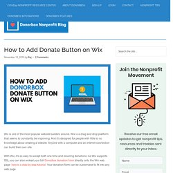 How To Add Donate Button On Wix