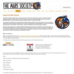Donate - The Mars Society