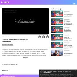 Lorenzo Valla et la donation de Constantin - Vidéo Histoire