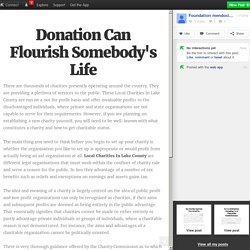 Donation Can Flourish Somebody's Life