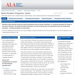Home - Book Donation Programs - LibGuides at American Library Association