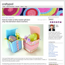How to Make a Felty Easter Gift Box (my first donation-ware tutorial!)