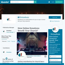 How Online Donations Benefit Your Church?