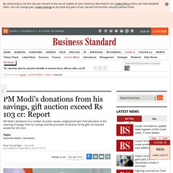 PM Modi's donations from his savings, gift auction exceed Rs 103 cr: Report