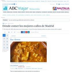 Dónde comer los mejores callos de Madrid