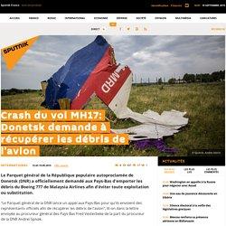 Crash du vol MH17: Donetsk demande à récupérer les débris de l'avion