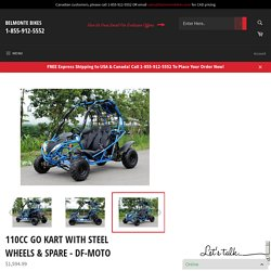 Buy 110CC GO KART WITH STEEL WHEELS & SPARE