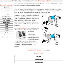 Donkey Kicks, exercice de musculation