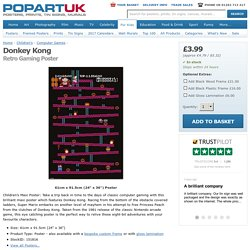 Donkey Kong, Retro Gaming Poster - Buy Online