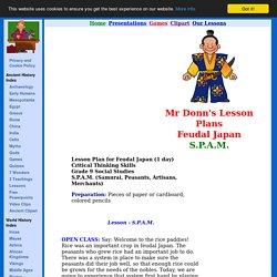 Mr Donn's Lesson Plan - Feudal Japan, SPAM