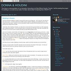 DONNA & HOUDINI: Modeling in Houdini