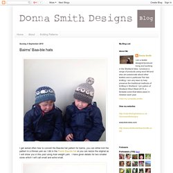 Donna Smith Designs: Bairns' Baa-ble hats