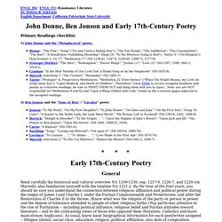 Donne and 17th-Century Poetry study questions