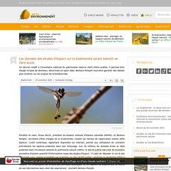 Les données des études d'impact sur la biodiversité seront bientôt en libre accès - 30/11/16