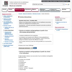 Bases de données - Cartes interactives