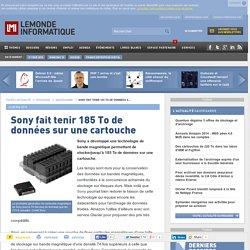 Sony fait tenir 185 To de données sur une cartouche