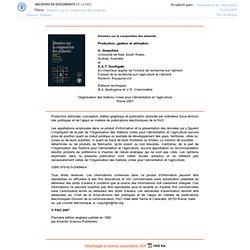 2007 - Données sur la composition des aliments - Production, gestion et utilisation - Chapitre 6 Choix des méthodes d'anal