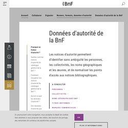 Données d'autorité de la BnF