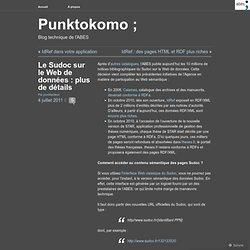 Le Sudoc sur le Web de données : plus de détails « Punktokomo ;