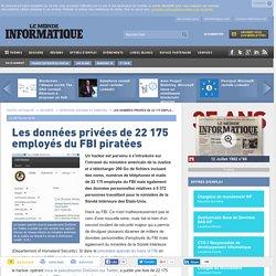Les données privées de 22 175 employés du FBI piratées