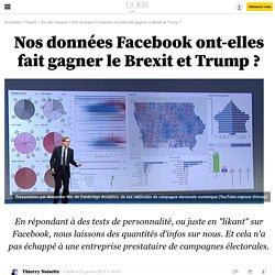 Nos données Facebook ont-elles fait gagner le Brexit et Trump ?