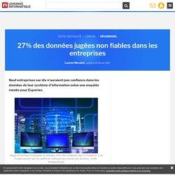 27% des données jugées non fiables dans les entreprises