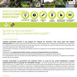 Base de données Habitat Participatif et Oasis : OasisHP