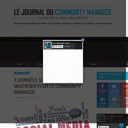 3 données social media à maitriser pour le community manager