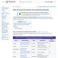 Liste de bases de données des ministères français