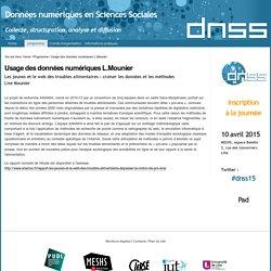 Usage des données numériques L.Mounier — DNSS
