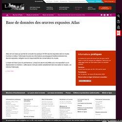 Base de données des œuvres exposées Atlas