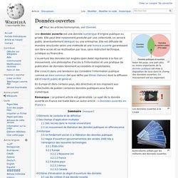 Wikepedia: Données ouvertes
