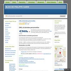 CNIL et données personnelles « Blog de Philippe Garin